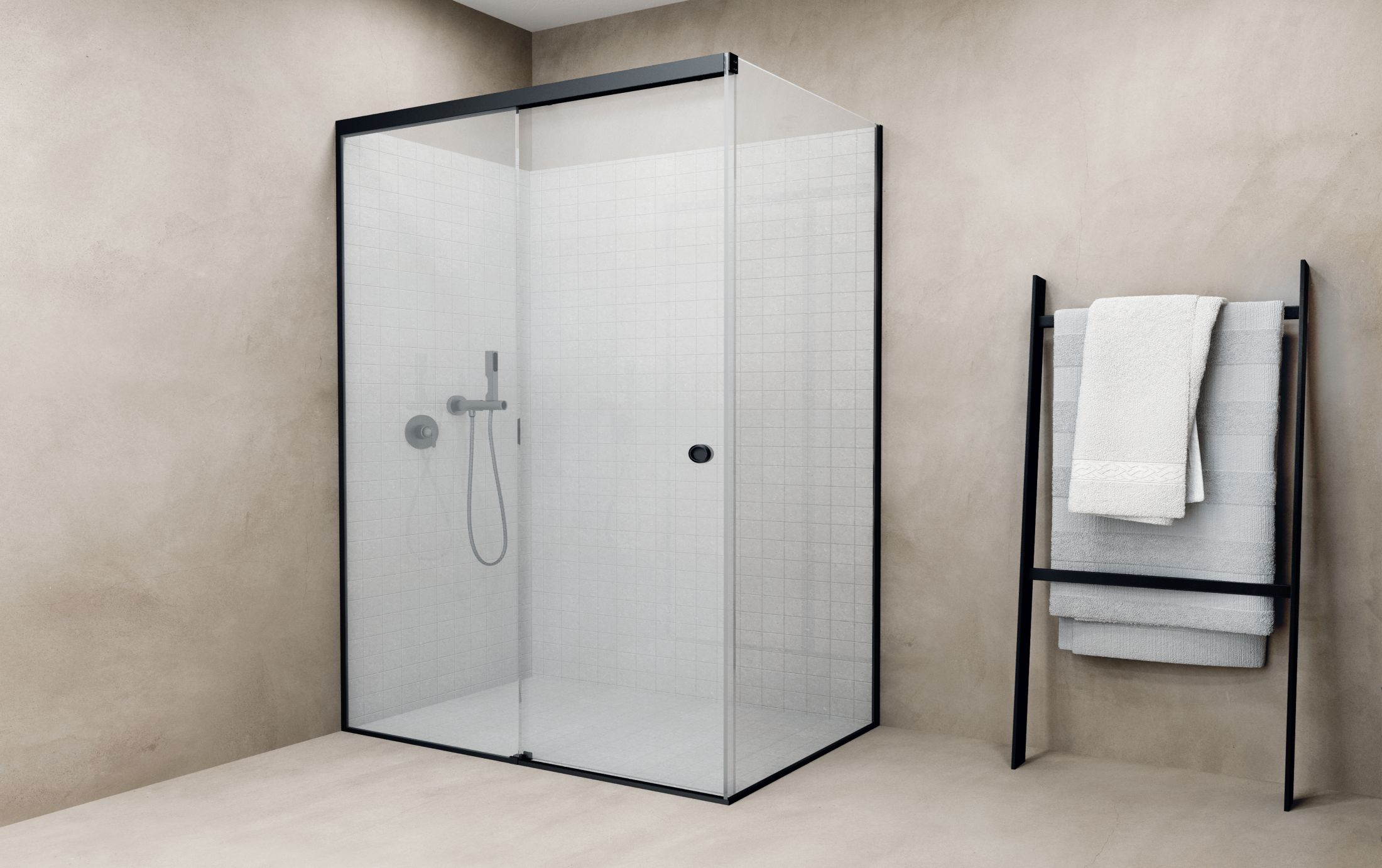 New Aluminium sliding door shower systems GS-R10/11/12/13 from Panidis SA